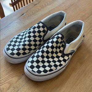 593871e911 Women s Checkered Slip On Vans on Poshmark